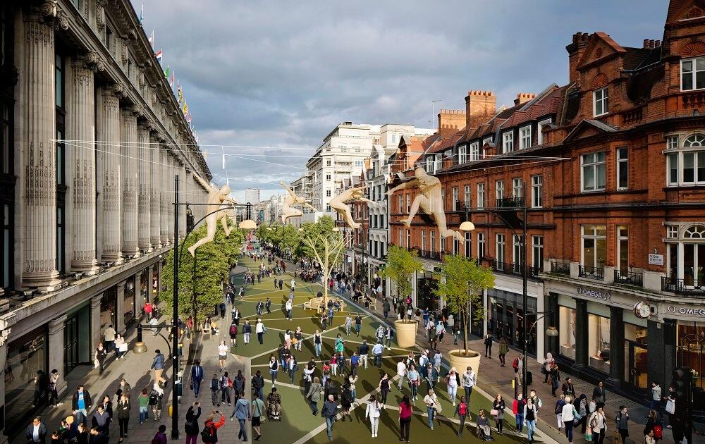 מדרחוב אוקספורד סטריט בלונדון