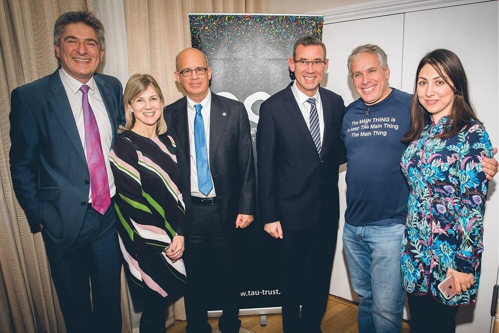 אורי לוין בלונדון באירוע של אגודת ידידי אוניברסיטת תל אביב בבריטניה