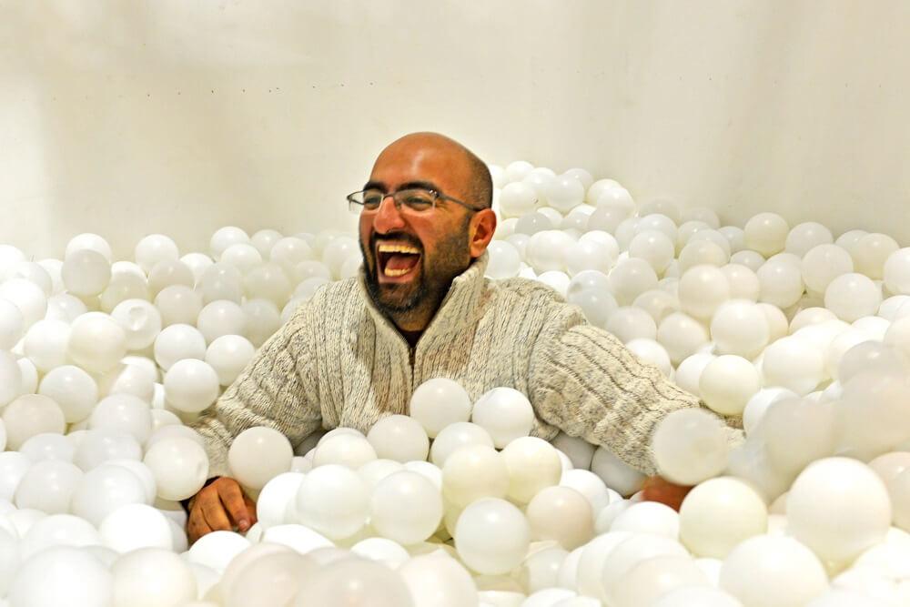 בריכת הכדורים בפסטיבל האושר החורפי לונדון