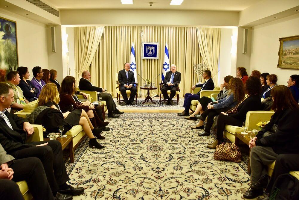 """""""השבט החמישי"""". """"מנהיגות ישראלית בתפוצות"""" במפגש עם הנשיא ריבלין"""