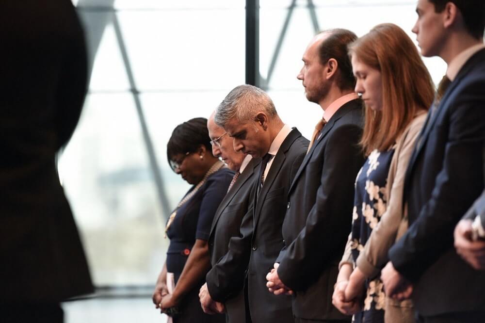 ראש העיר לונדון סאדיק קאן בטקס לזכר השואה