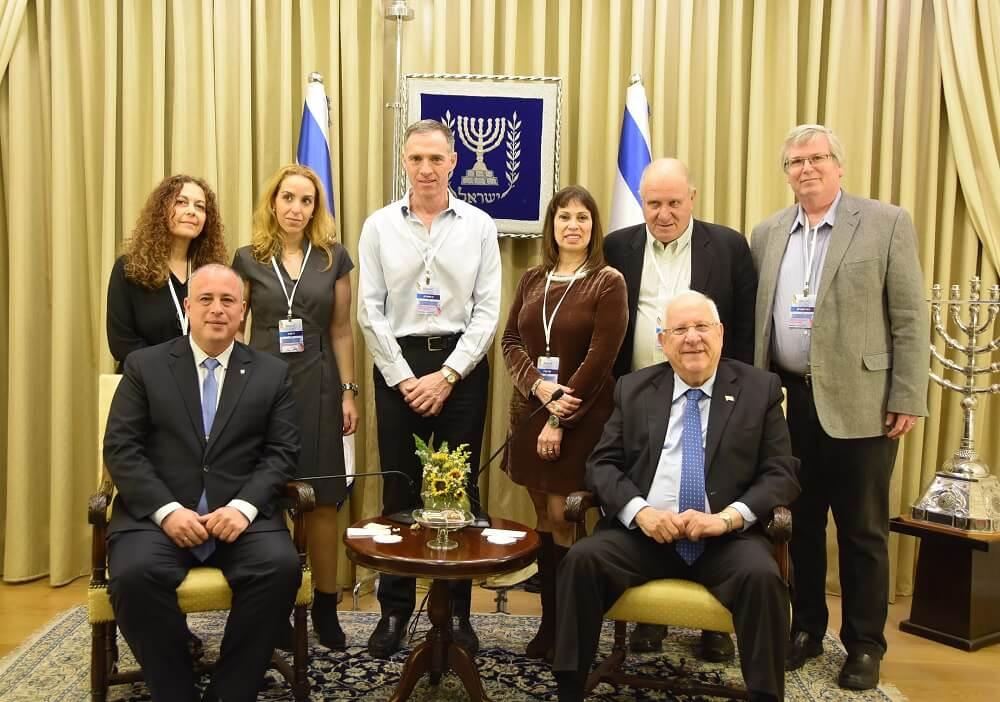 """מובילי """"מנהיגות ישראלית בתפוצות"""" במפגש עם הנשיא ריבלין"""