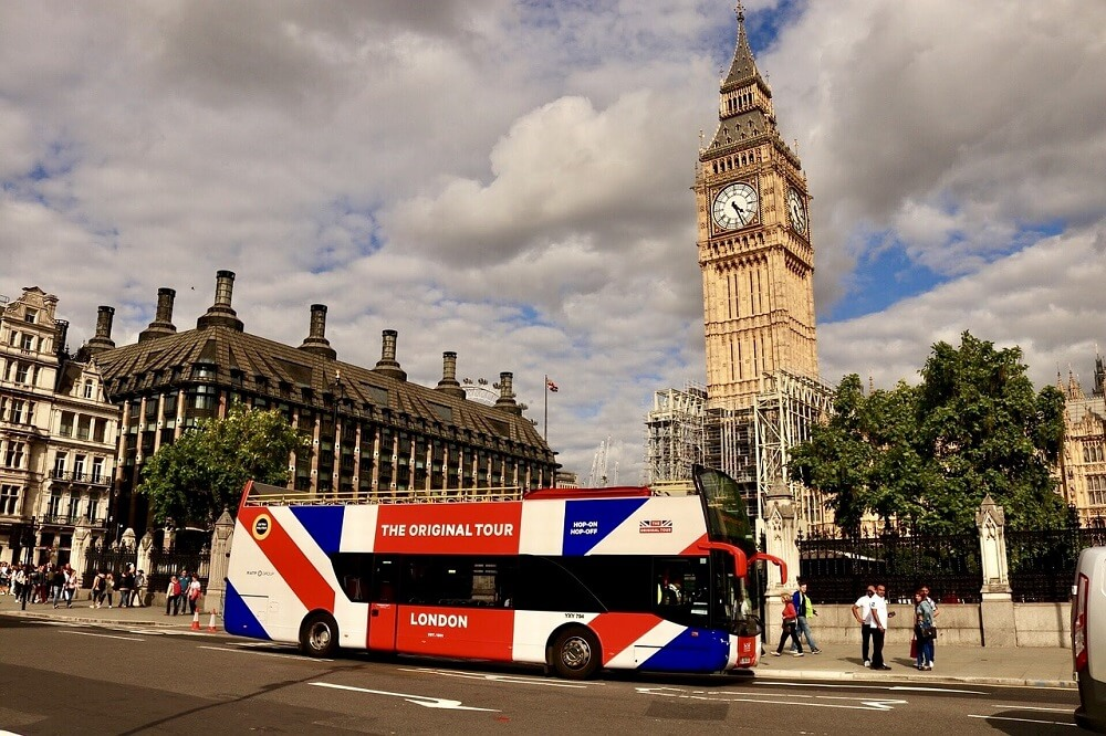 אטרקציות בלונדון, סיור באוטובוס בלונדון