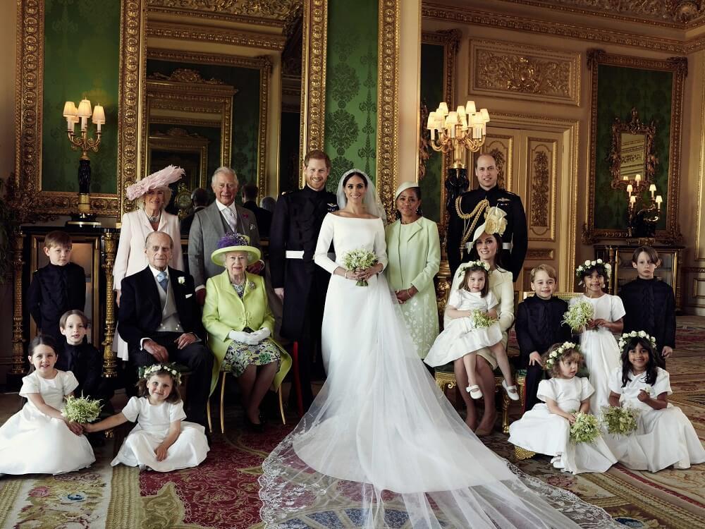 עם שחקנית החיזוק האמריקאית. התמונה המעודכנת של משפחת המלוכה. צילום: משפחת המלוכה הבריטית