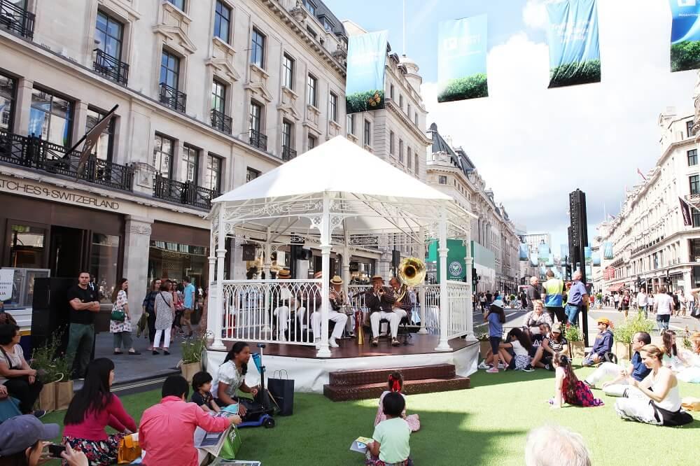 מה לעשות בלונדון חודש יולי 2018 רק בימי ראשון בקיץ. ריג'נט הופך למדרחוב