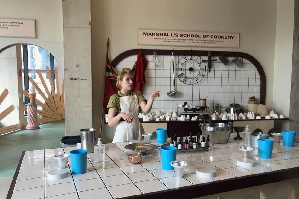 אטרקציה לילדים בלונדון תערוכת גלידה