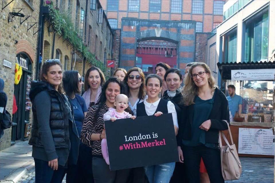 מחאה של בכירות היי-טק ישראליות בלונדון