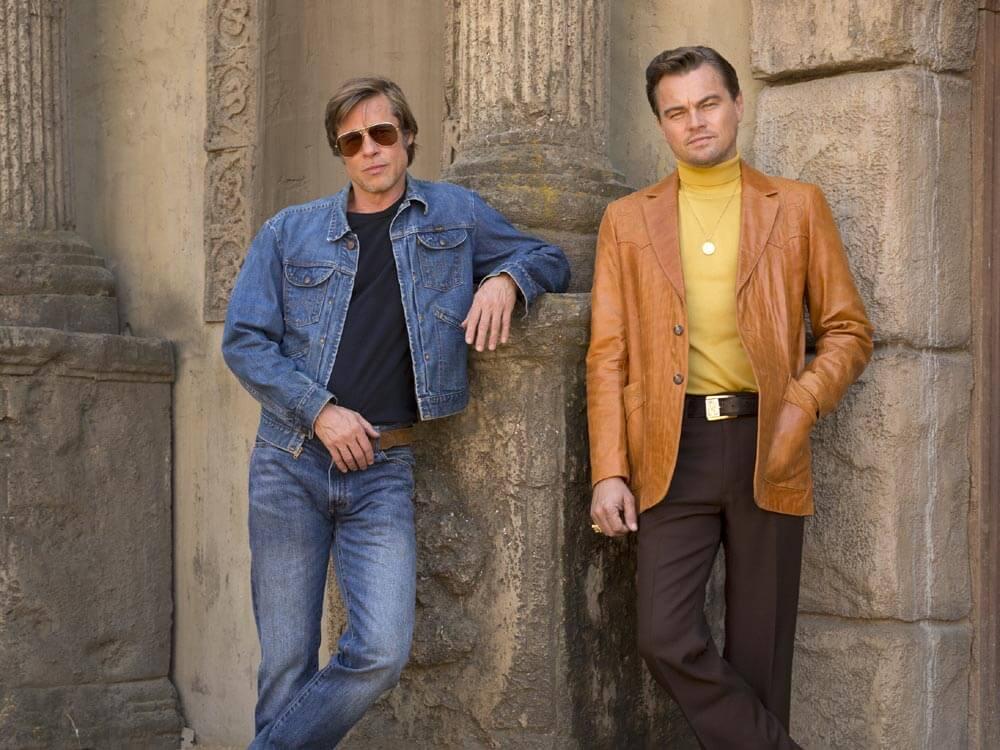 ליאונרדו דיקפריו ובראד פיט בסרט היו זמנים בהוליווד