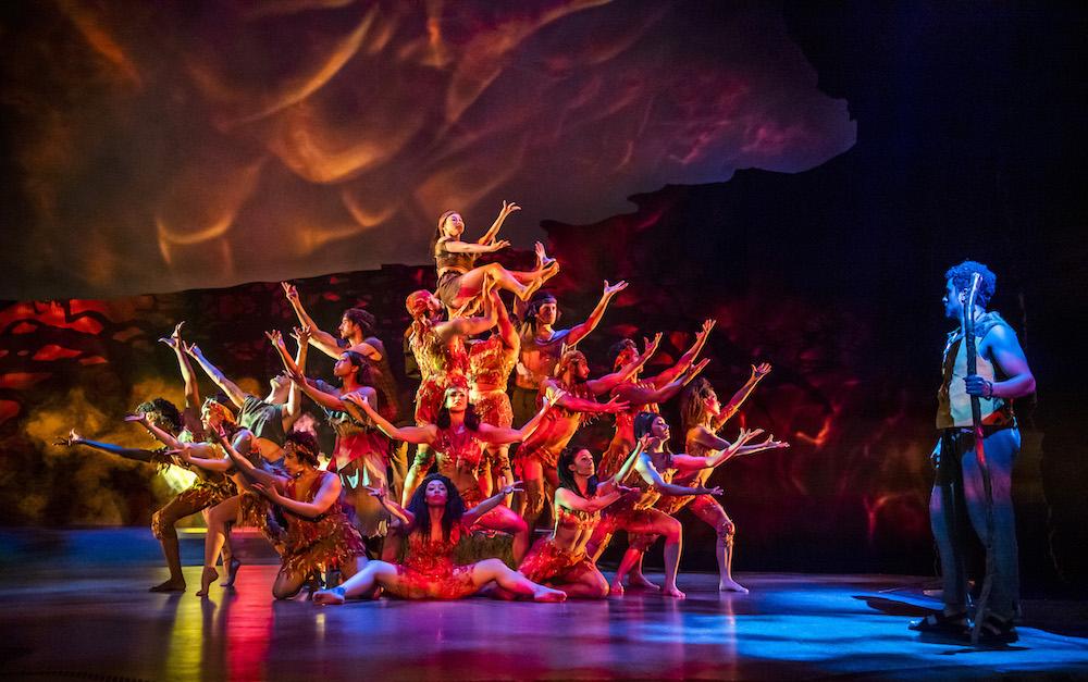 מחזמר בלונדון נסיך מצרים - סצנת הסנה הבוער