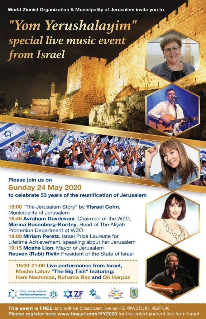 יום ירושלים בבריטניה, אנגליה, לונדון