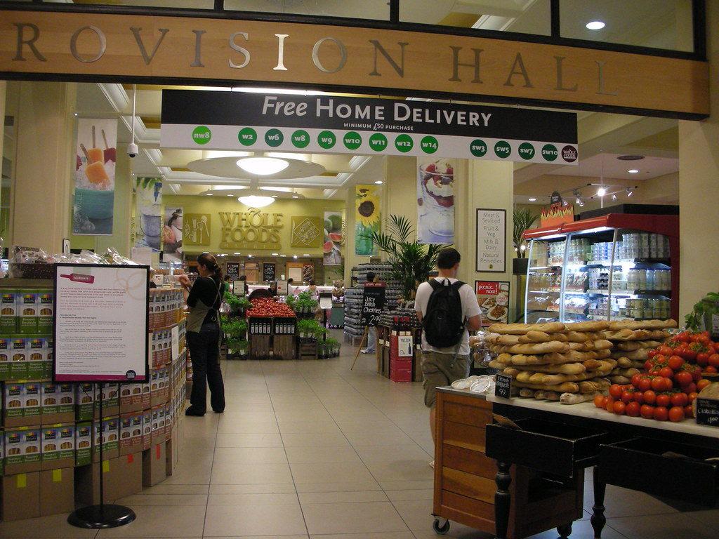 סופרמרקט בבריטניה - סניף של הול פודס בלונדון