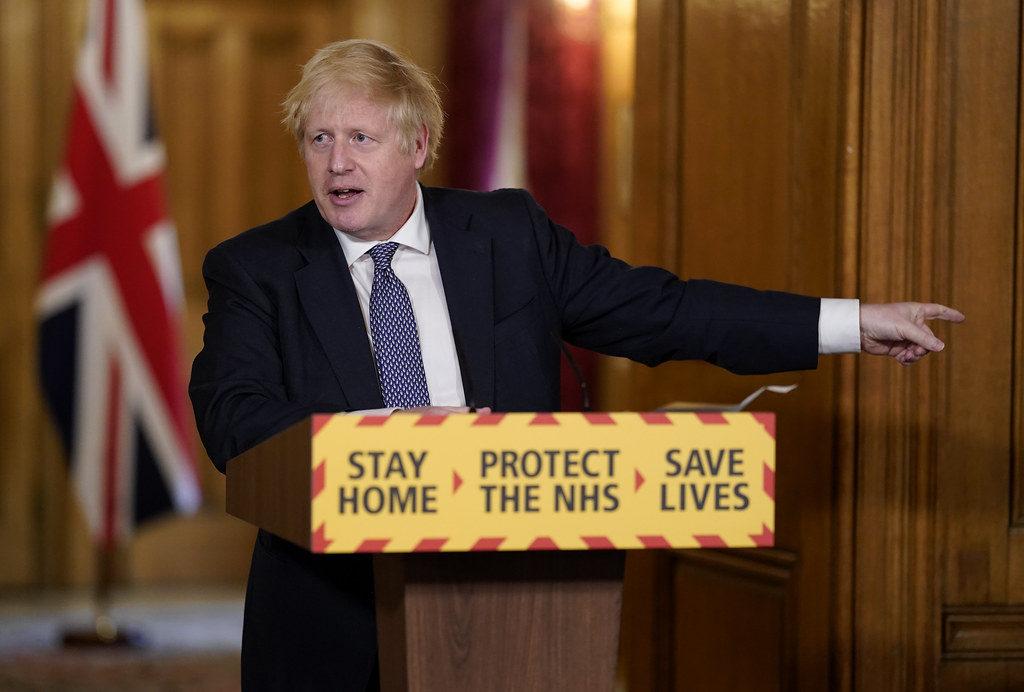 ראש ממשלת בריטניה בוריס ג׳ונסון מגפת קורונה בבריטניה, אנגליה, לונדון - יציאה מהסגר ואין חובת מסיכות