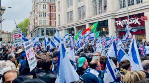 אנטישמיות בלונדון, אנגליה, בריטניה - הפגנה עצרת תמיכה בישראל