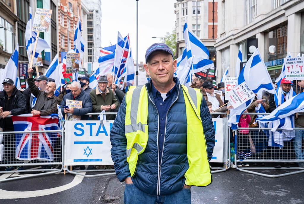 הפגנות תמיכה בלונדון למען ישראל - יצחק זוננשיין.ההסתדרות הציונית העולמית בבריטניה