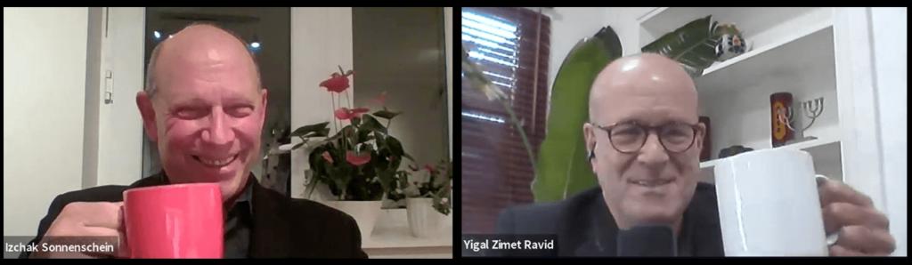 יגאל רביד ויצחק זוננשיין משיקים לחיים וירטואלי - בריטניה ישראל